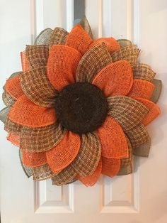 This amazing wreath is made of poly burlap, which is a great weather resistant material. It measures approximately x Make a statement when your guests come to your door with this amazing wreath Burlap Crafts, Wreath Crafts, Diy Wreath, Burlap Projects, Tulle Wreath, Wreath Burlap, Wreath Making, Wreath Ideas, Craft Projects