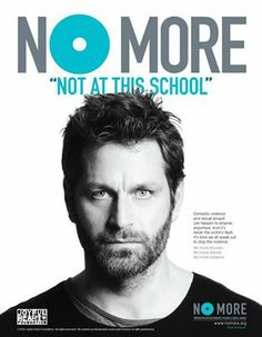 """Peter Hermann- """"not at this school"""" has so much meaning to him. #NOMORE"""