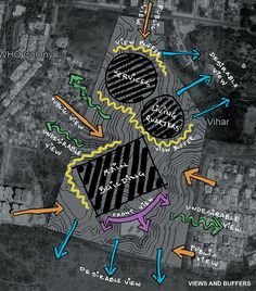 Performing Arts Center on Behance Site Analysis Architecture, Architecture Collage, Architecture Portfolio, Architecture Design, Bubble Diagram Architecture, Architecture Concept Diagram, Architecture Presentation Board, Urban Design Concept, Urban Design Diagram