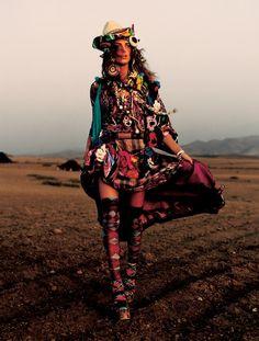 VOGUE UK, January, Road to Marrakech by Mario Testino