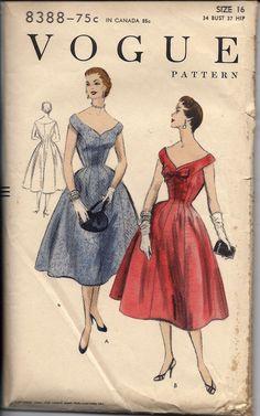1950's Elegant OffTheShoulder Cocktail by DawnsDesignBoutique, $28.99 - I think I'm in love.