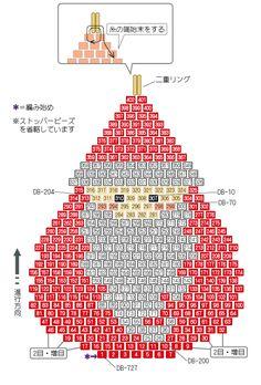 Christmas Santa seed bead pattern