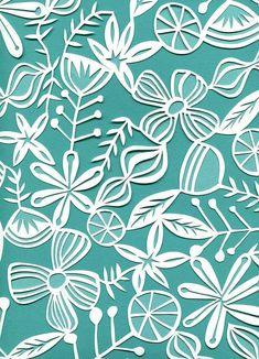 Floral paper cut by Swallowfield (Jennifer Judd McGee)