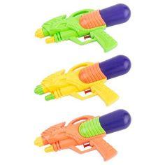 Pistolet à eau - Polypropylène et polyéthylène - 28 x 15 x H 6 cm - Multicolore