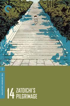 1966 Zatoichi's Pilgrimage (Zatoichi: The Blind Swordsman 14) 座頭市海を渡る [The Criterion Collection] cover illustration: Patrick Leger #film #illustration