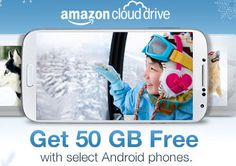 Want a little reward for your next Android smartphone purchase? Amazon is tempting buyers with a promise of free Cloud Drive storage. As part of its latest Cloud Drive promotion, the retail giant is doling out 50GB worth of free storage in return for buying select Android smartphones.  Read more on: http://news.cnet.com/8301-1023_3-57614508-93/amazon-offers-free-online-storage-to-android-phone-buyers/