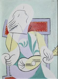 "Pablo Picasso ""Young Woman with Mandolin"" 1932 (University of Michigan Museum of Art) Pablo Picasso, Kunst Picasso, Picasso Art, Picasso Paintings, Picasso Collage, Trinidad, Picasso Prints, Framing Canvas Art, Cubist Movement"
