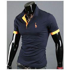 Polo T-shirt à manches courtes ajusté Coton Fashion Fitted