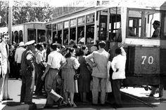 Antiguos tranvías Málaga