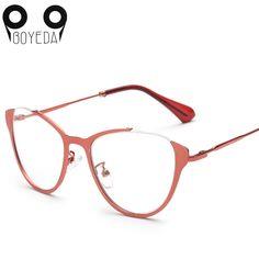 bce786bb79c BOYEDA Brand Fashion Cat Eye Glasses Retro Vintage Metal Optical Frame  Reading Glasses Men Women Myopia Eyeglasses Frame oculos-in Eyewear Frames  from Men s ...
