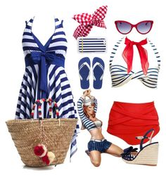 """""""pin up"""" by manueladimauro ❤ liked on Polyvore featuring J.Crew, Roberto Cavalli, Havaianas and Kate Spade"""