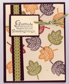 Another Thanksgiving Card Made with Stampin Up Supplies Demo Quality | eBay