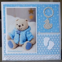Baby Girl Scrapbook, Marianne Design, Baby Cards, Babys, Stampin Up, Card Making, Baby Boy, Diy Projects, Teddy Bear