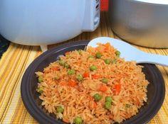Cómo hacer arroz rojo mexicano en olla arrocera: Se puede elaborar un arroz rojo mexicano bastante sabroso en olla arrocera eléctrica #ollaelectrica