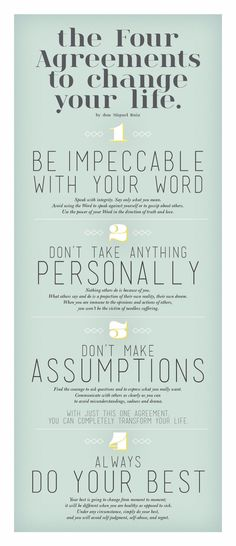 The Four Agreements!                                                                                                                                                      More