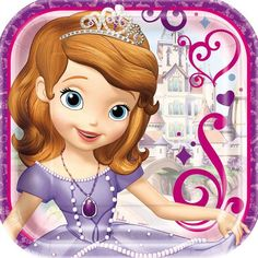 Sofia the First 9 Inch Plates [8 Per Pack]