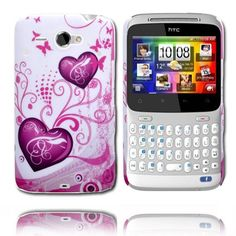 Valentine (Two Purple Hearts) HTC ChaCha Cover