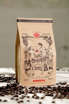 Cafe prohibido | PACKAGING FORBIDDEN COFFEE | pinned by http://www.cupkes.com/