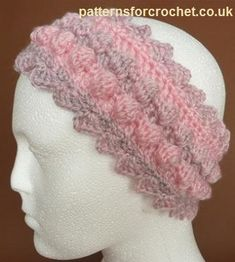 Bobble Headband ~ Patterns For Crochet