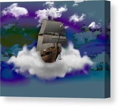 Sailing Canvas Print featuring the mixed media Sailing Ship by Marvin Blaine