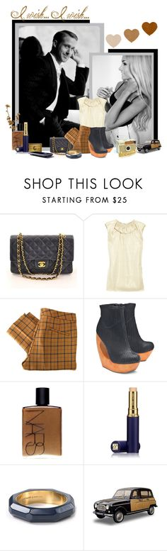"""♥ ♥ ♥"" by peony-and-python ❤ liked on Polyvore featuring Chanel, Martin Grant, See by Chloé, Jeffrey Campbell, NARS Cosmetics, Estée Lauder, Kate Spade and ryan gosling chanel crazy stupid love blonde black white grey gold navy romantic"