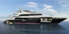 3D-animation of the Jongert 500 LE Superyacht. This yacht has a telescopic anchor system and a diesel electric propulsion. Design by Guido de Groot.