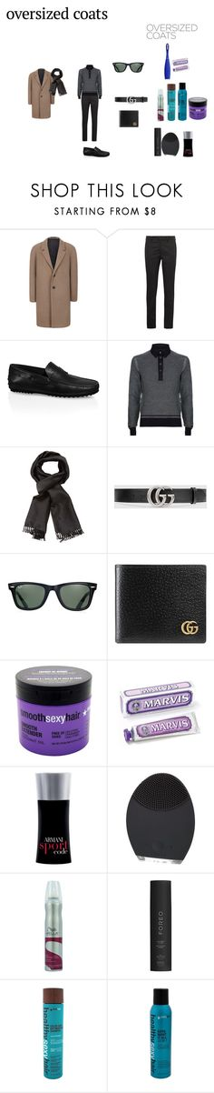 """""""Paul you could dress like this"""" by effyswanhaze ❤ liked on Polyvore featuring Topman, Prada, Tod's, Tom Ford, Gucci, Ray-Ban, Sexy Hair, Giorgio Armani, FOREO and Wella"""