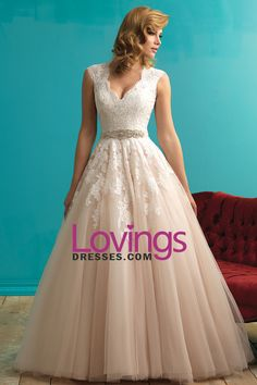 2016 V Neck Wedding Dresses Tulle With Applique Court Train Tulle