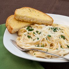 Better Than Olive Garden Fettuccine Alfredo!  Super yummy!  I used 2% milk and it turned out AWESOME!  Goes great with Parmesan Knots too!