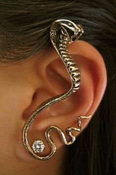 Bronze Cobra Ear Wrap. $68.00, via Etsy. (How does this even stay on your ear?)