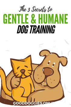 Learn 3 Secrets to Gentle and Humane Dog Training. #GoodDoggies #dogtraining