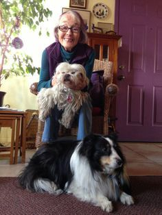 Jeannie and the blind pooches!!!  LOVE IS BLIND, SMOOCHIES for the BLIND POOCHIES..................