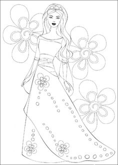 Barbie Fashion Coloring Pages 154