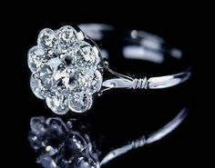 Diamond daisy engagement ring I photographed for Rumour's bespoke jewellery portfolio and website. One of our most popular designs. probably as it is so simple and elegant! Engagement Ring Images, Buying An Engagement Ring, Best Engagement Rings, Beautiful Engagement Rings, Tiffany Engagement, Wedding Engagement, Ring Designs, Wedding Jewelry, Wedding Rings