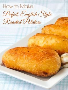 How to Make Perfect English Style Roasted Potatoes - **I did not peel potatoes** Learn the simple method that makes perfectly crispy potatoes with a fluffy, steaming inside. The perfect side dish for every roast meat or poultry you serve. Potato Sides, Potato Side Dishes, Vegetable Side Dishes, Crispy Potatoes, Roasted Potatoes, Steamed Potatoes, English Potatoes, English Roast, Perfect Roast Potatoes