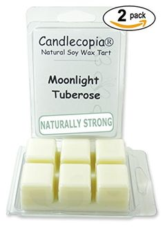 Candlecopia Moonlight Tuberose 6.4 oz Scented Wax Melts - A complex bouquet of pear, green apple, tuberose, jasmine, ginger, violet, ylang ylang, peach & vanilla - 2-Pack of naturally strong scented soy wax cubes throw 50+ hours of fragrance when melted in Scentsy®, Yankee Candle® or standard electric tart warmer Candlecopia http://www.amazon.com/dp/B00RTTBPQS/ref=cm_sw_r_pi_dp_WIZvvb05KFFK6