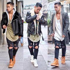 My last favorit Black riped outfit ⚫️ Let me know wich one don u prefer ? 1,2,3 ? @champaris75 #champaris #champaris75