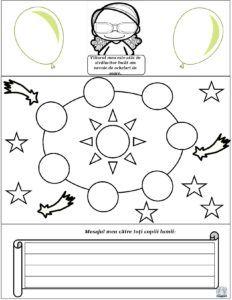 Ziua Copilului - Lapbook 1 Iunie pentru fete Symbols, Letters, Education, Math, Icons, Math Resources, Teaching, Lettering, Onderwijs