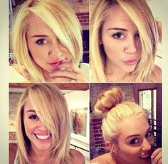 Miley Cyrus's hair . I love this hair style so much