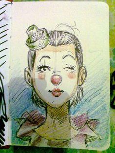 Sketch of a Clow Girl