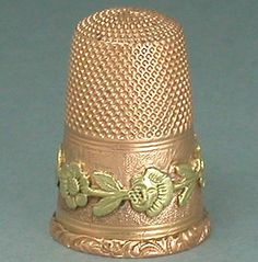 Antique French 18 Kt Two Color Gold Thimble * C1850