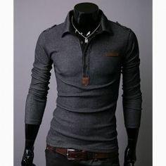 Fashionable Slim Lapel Pure Color Long Sleeve