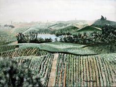 Foggy Napa Valley  acrylic print 8x10  vineyard by vwright13, $20.00