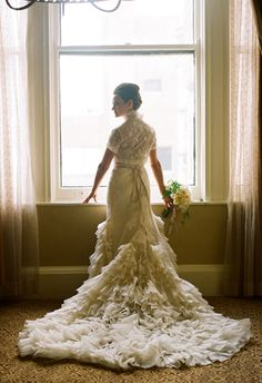 Ruffled vintage-inspired gown