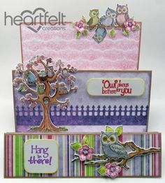 Heartfelt Creations | Hang In There Owl Step Card