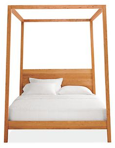 A modern canopy bed
