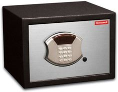 Honeywell 5112DOJ 0.50 Cubic Feet DOJ-Approved Steel Security Safe by Honeywell. $128.33. From the Manufacturer                This Honeywell 5112DOJ is a DOJ approved firearms storage device.  It features 0.50 cubic feet storage capacity, programmable digital entry, motorized door lock, brushed aluminum door cover, carpeted floor, LED readout, concealed hinges, recessed door and rear panel to prevent prying which gives you additional protection against theft. ...