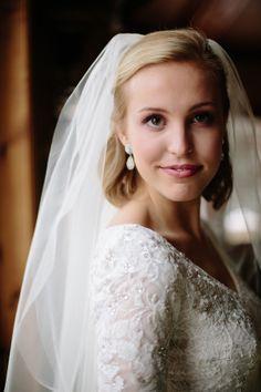 Modest wedding dress from Alta Moda  Photo: Valory Jean