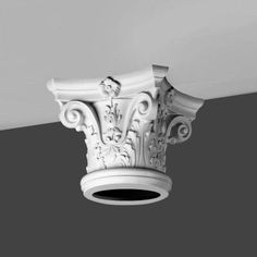 Fluted Columns - Architectural Decorative Pillars for Porch Ceiling Rose, Ceiling Decor, Decorative Pillars, Orac Decor, Fluted Columns, Column Base, Cast Iron Radiators, Chimney Breast, Church Design