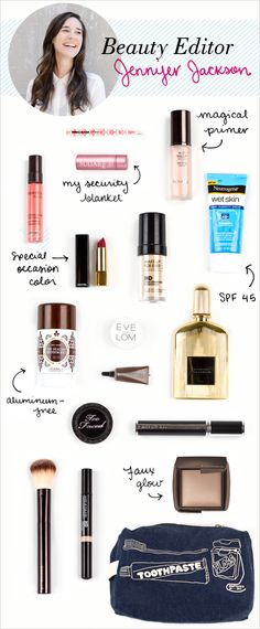 take a look inside our beauty editor's makeup bag